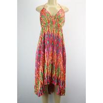 Laundry Sin Mangas Plisado Vestido Satén Multi-color