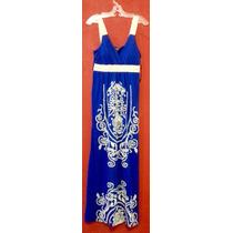 Maxi Vestido Playa Vintage Tribal Largo Fresco Encaje