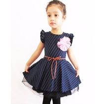 Elegante Vestido Azul Para Niña Promocion Moda Japonesa