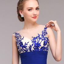 Vestido Largo Noche Vestido Dia Elegante. Color Azul Y Rojo