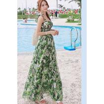 Suku 32540 Bonito Maxy Vestido Verde Moda Japón $809