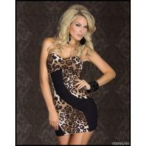 Hermoso Mini Vestido Leopardo Sexy Antro Fiesta Noche Coctel