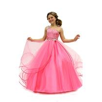 Hermoso Vestido De Niña Tul Con Cristales Alta Costura