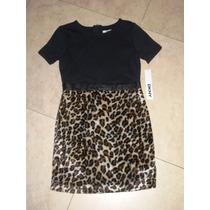Vestido Niña Dkny Leopard Mediano