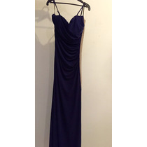 Vestido Largo Liz Minelli Azul Marino Grande