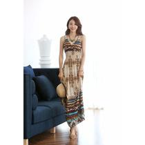 Elegante Vestido Japones Largo De Fiesta O Casual Mod 2563