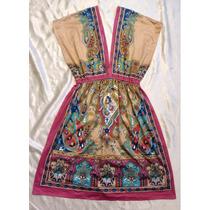 Vestido Forever 21 Mediano Etnico Escotado