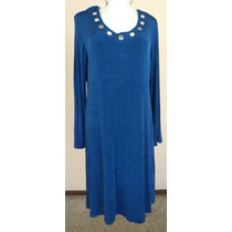 Super Strech Vestido Azul Rey Talla L Vt200