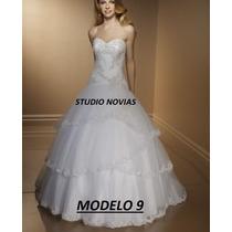 Vestido De Novia Nuevo Barato Bonito Elegante Blanco Mod 9