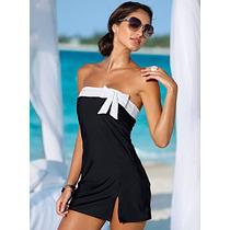 Vestido Casual Corto De Playa Fresco Comido Moño Sexy Moda