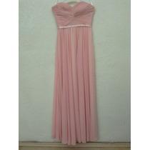 Vestido De Noche Largo, Color Rosa Palo