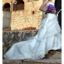 Vestido De Novia Usado Talla 8 Color Ivory