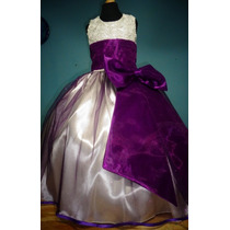 Vestido De Paje Pajecita Para Niña Falda Color Morado