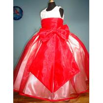 Vestido De Paje Pajecita Para Niña Falda Color Rojo