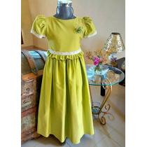 Hermoso Vestido De Clausura Verde Graduación-fiesta Talla 6