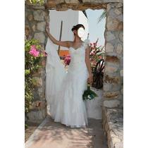 Vestido De Novia Strapless Briden Formal Estilo Romano