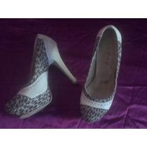Zapatillas Con Plataforma #3 Animal Print Preciosas!!