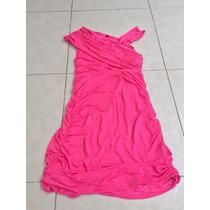 Vestido Corto Casual Rosa Barbie Neon M Blusón Estilo Bebe
