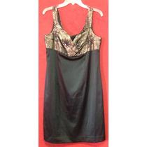 Vestido Negro Dorado De Noche, Graduación, Xv, Envio S/costo