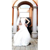 Vestido De Novia Español Marca La Sposa Plisado !! En Remate