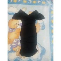 Vestido Negro Corto De Lycra Stretch