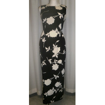 Vestido T.30, Negro, 100% Seda, Muy Elegante, Maggy London