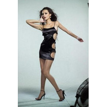 Sexy Mini Vestido Negro Abierto A Los Lados Unitalla