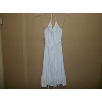 Vestido D Tirantes Blanco C/olanes Mossimo Xs-28