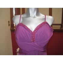 Vestido Color Magenta Marca Rue De La Paix Talla 9/10