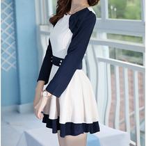 Vestido Corto Estilo Retro Casual Moda Japonesa Elegante 840