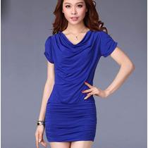 Vestido Corto Blusón Casual Elegante, Tipo Moda Japonesa 770