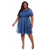 Vestido Azul Tipo Mezclilla Talla Extra - Plus 16