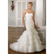 Vestido De Novia Mori Lee, Ivory, Nuevo!!!