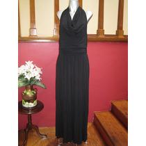 Vestido Halter Negro Talla Chica Marca The Limited