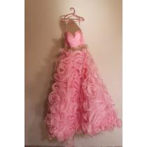 Vestido Quince Años Rosa