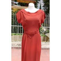 Vestido Vintage Años 40s Shedron