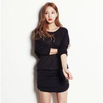 Vestido Moderno Corto Otoño Invierno Moda Asiática 2176