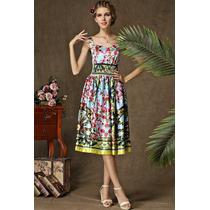 Moda Japonesa Vestido L Floral Barroco Escote Corazón