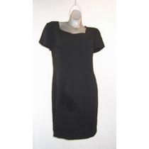 Clasico Vestido Negro Jaqueline Ferrar T/12 34 Mexico