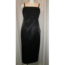Vestido De Maternidad T.30, Negro Satinado, Linea A, Gap