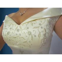 Elegante Vestido De Novia Pronovias Importado Barcelona
