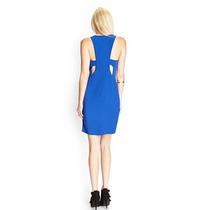 Vestido Nuevo Forever 21 Azul Escote Espalda Corto