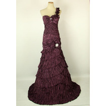 Vestido Fiesta Noche Alta Costura Nika Talla 10 $572 Dlls