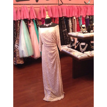 Vestido Fiesta Noche Ralph Lauren Encaje Talla 2