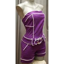 Hot Pants Short Top Conjunto Mini Straples Moda