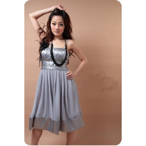 Suku 30704 Vestido De Chiffon Corte Princesa Moda Asia $509