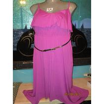 Vestido Rosa Fucsia Precioso Talla 3 X -extragrande