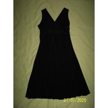 Bonito Vestido Negro Corto A La Rodilla Talla Chico/ Mediano
