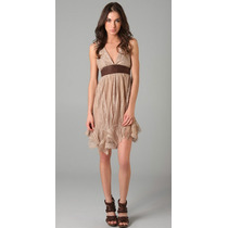 Simone Leather And Lace Dress