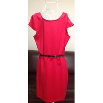 Vestido Dama Rojo Incluye Cinto Talla L Nuevo Op4